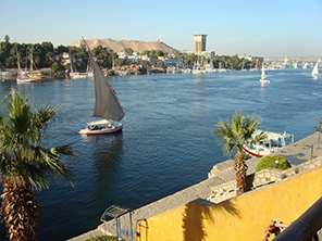 Sunset Luxor Nile River